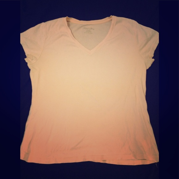5be9f2b5 Faded Glory Tops | Womens Size 1618 Peachcolored Vneck Tshirt | Poshmark